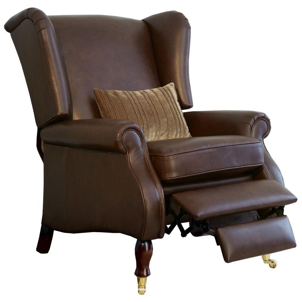 Leder Wingback Chair Sessel Leder Wingback Chair Recliner