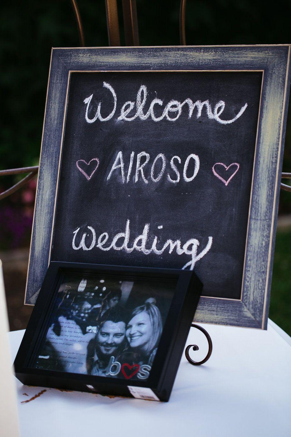 Diy wedding chalkboard sign chalkboard