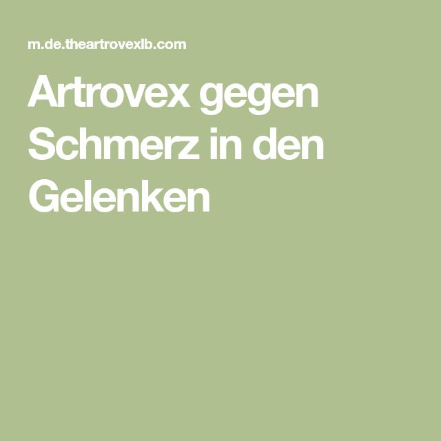Artrovex gegen Schmerz in den Gelenken - Schmerz..