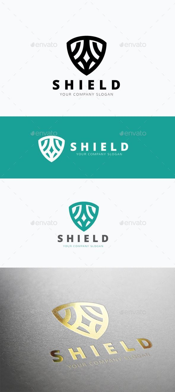 Shield Logo Design Template Vector #logotype Download it here: http ...