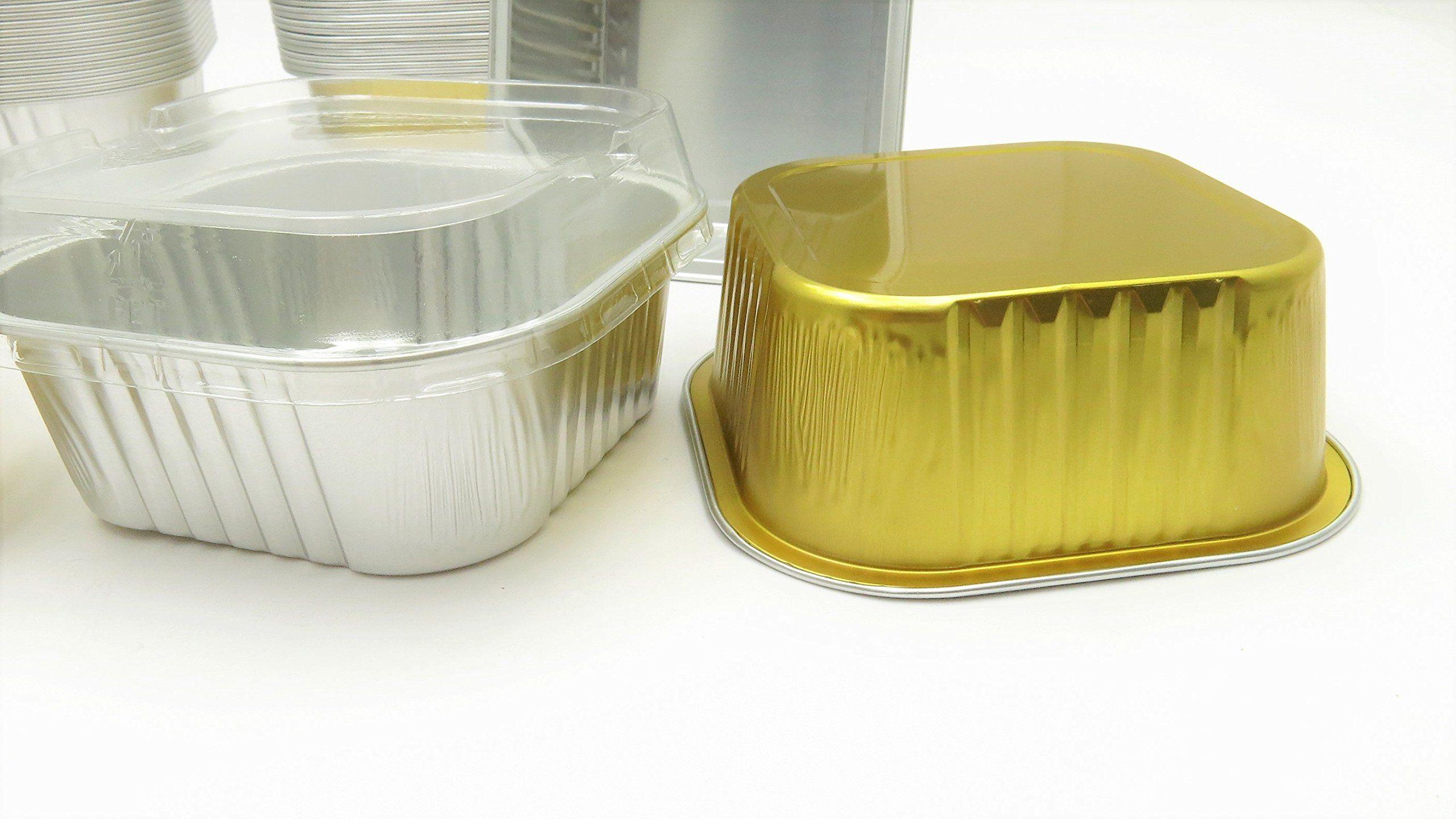 Kitchendance disposable aluminum 4 x 4 square cake pans w