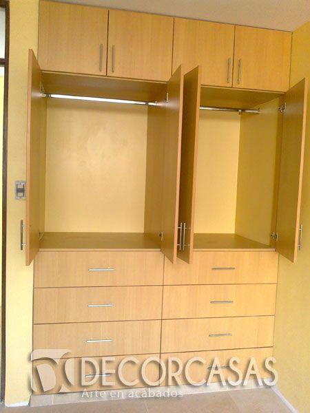 Closet de melamine para dos personas optimizando el for Modelos de closets para dormitorios