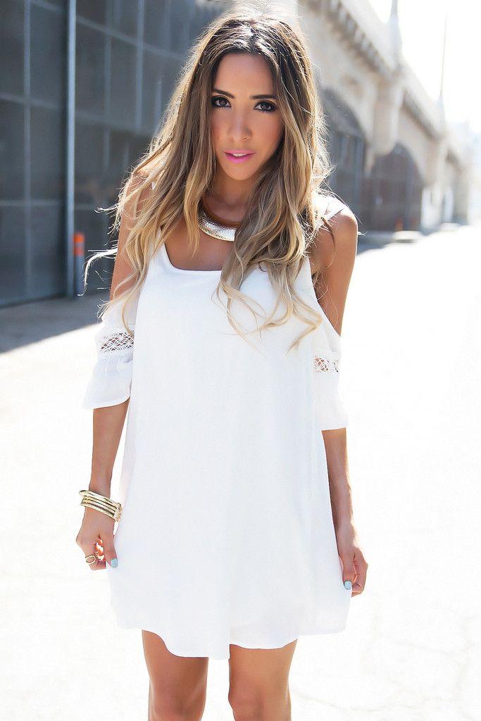 White Shoulder Dresses
