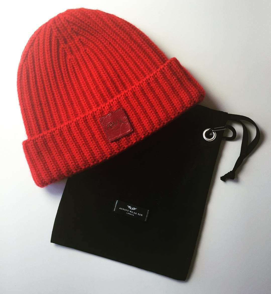 AWR Luxury Streetstyle. CONFIDENCE IS A COLOUR® TOAST #beanie #hat comes with its own black branded belt-bag and branded AWR carabina clip. So now you can take your beanie everywhere! Knitted in Scotland from the world's very best 100% Pure Cashmere. In British Red. Leather labelling. AWR – 11 new pieces added at our online store www.alwayswearred.com during June 2016.  CONFIDENCE IS A COLOUR® |  IF YOU LOVE IT TODAY, WEAR IT TODAY |  DEMAND ONLY THE BEST Free PRODUCT ALERTS available NOW…