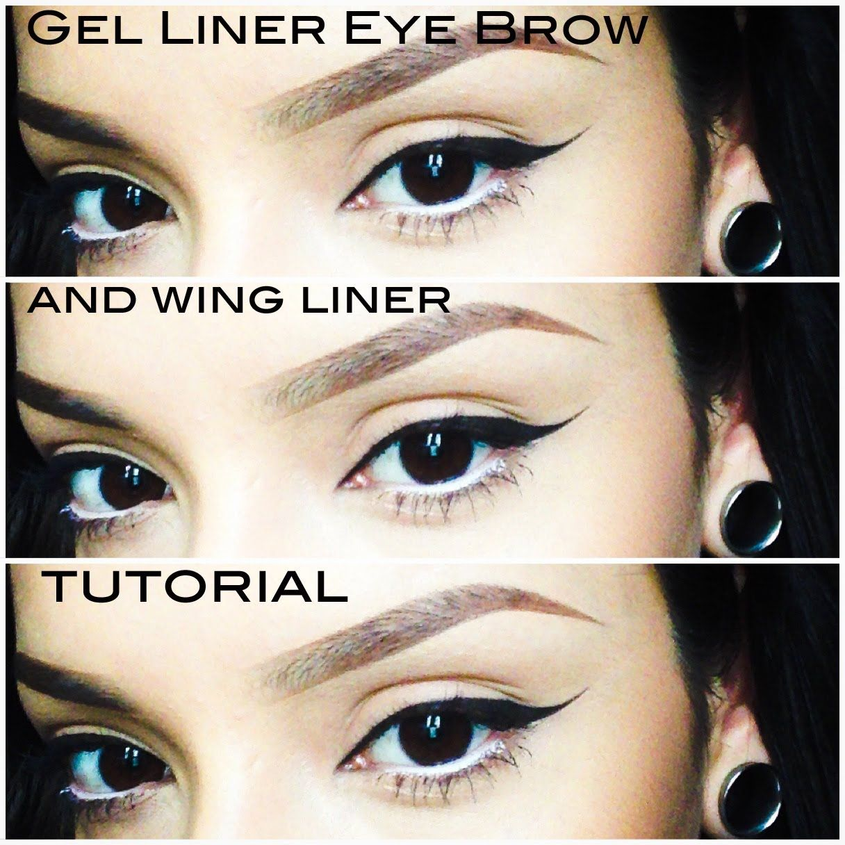 Gel liner eyebrow and wing liner tutorial kitchens and grills gel liner eyebrow and wing liner tutorial baditri Image collections