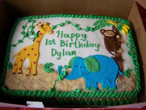 Birthday Cakes Jungle Theme ~ Jungle birthday cake cakes and cookies jungle