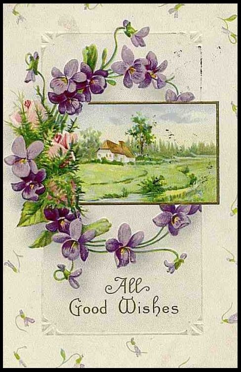 Birds /& Violets Greetings Repro Quilt Block Multi Sizes FrEE ShiPPinG WoRld WiDE