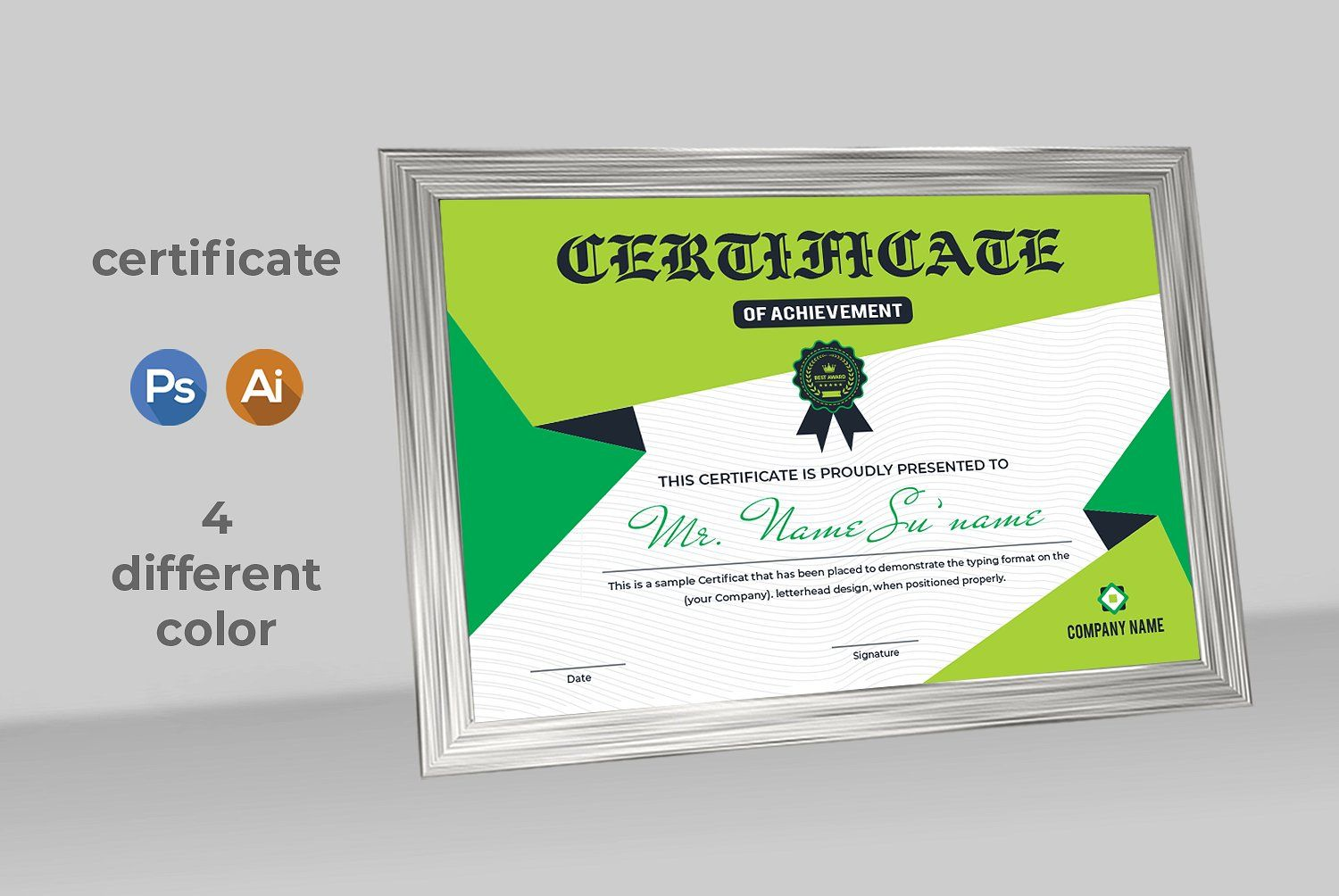 Certificate Print Ready Template commercialprojects