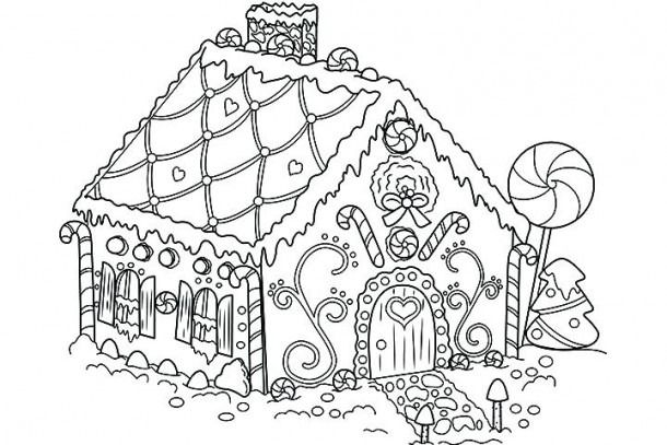 Worksheets Christmas Coloring Gingerbread House Candy Coloring Pages,  Christmas Coloring Pages, Free Christmas Coloring Pages