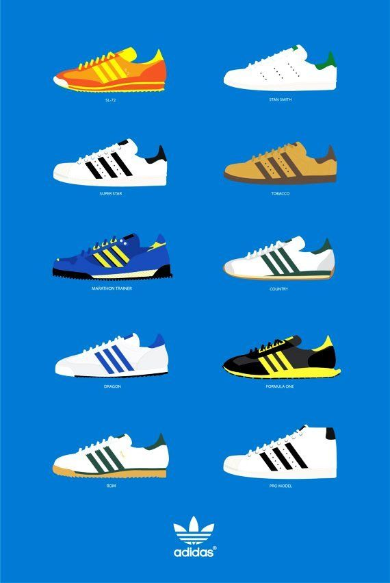 cheap for discount 08efd d460e adidas Sneaker Posters, Vintage Adidas, Adidas Og, Adidas Shoes, Sport  Outfits,