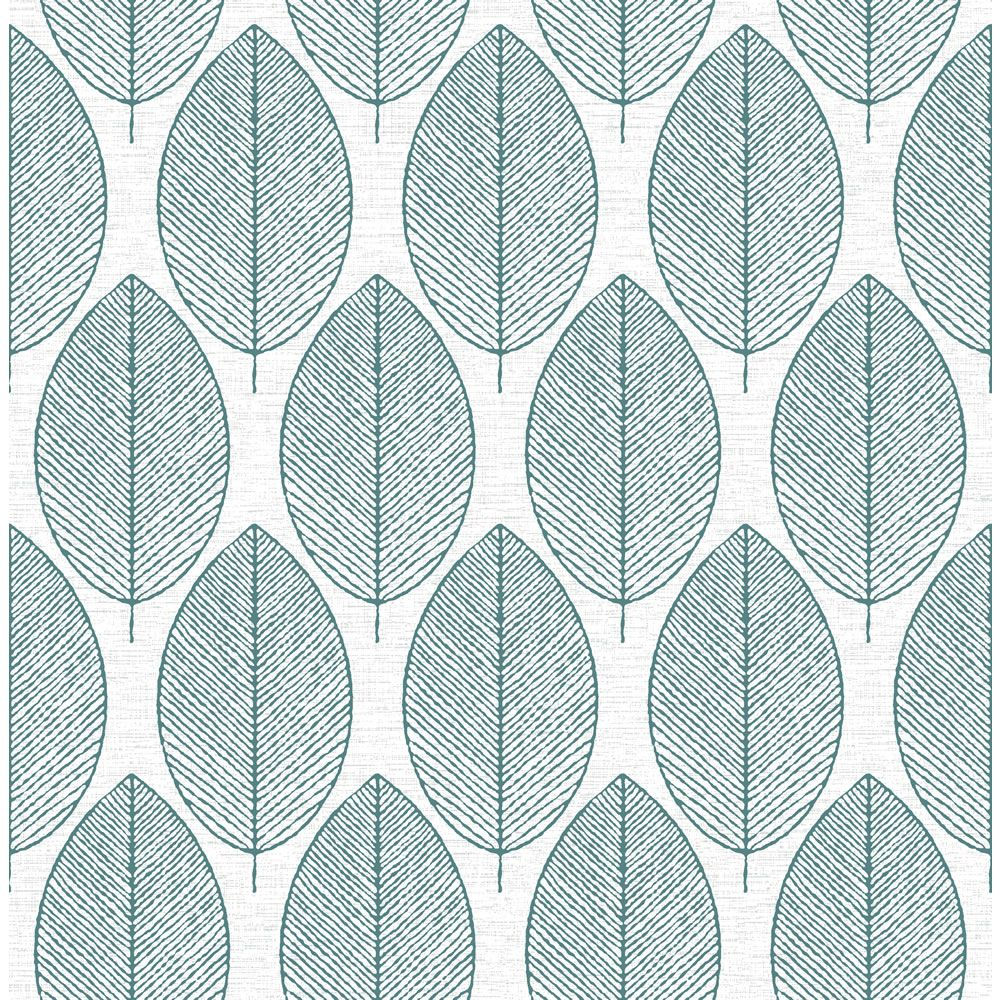 Fresco New Leaf White Teal Wallpaper Teal Wallpaper Fresco And Teal