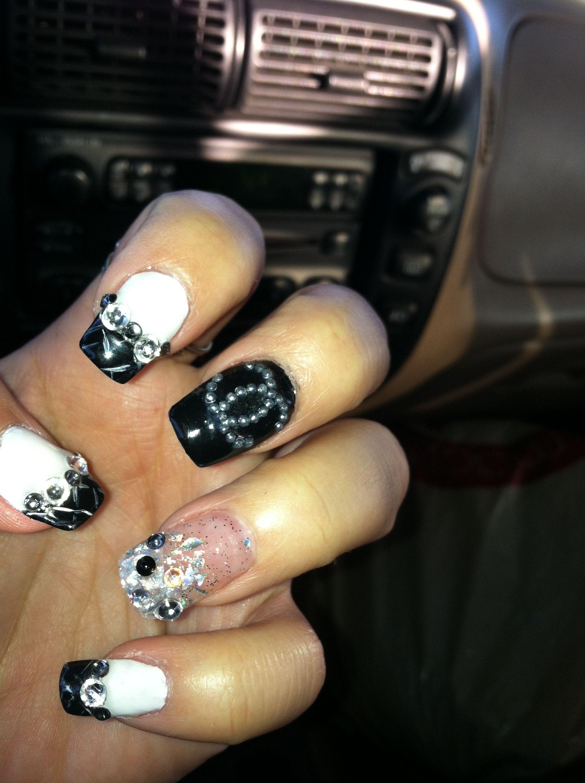 coco chanel nail design naildiva licious