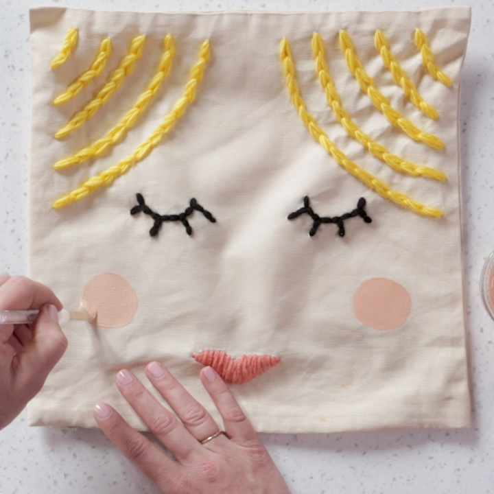 Stitched Face Pillows