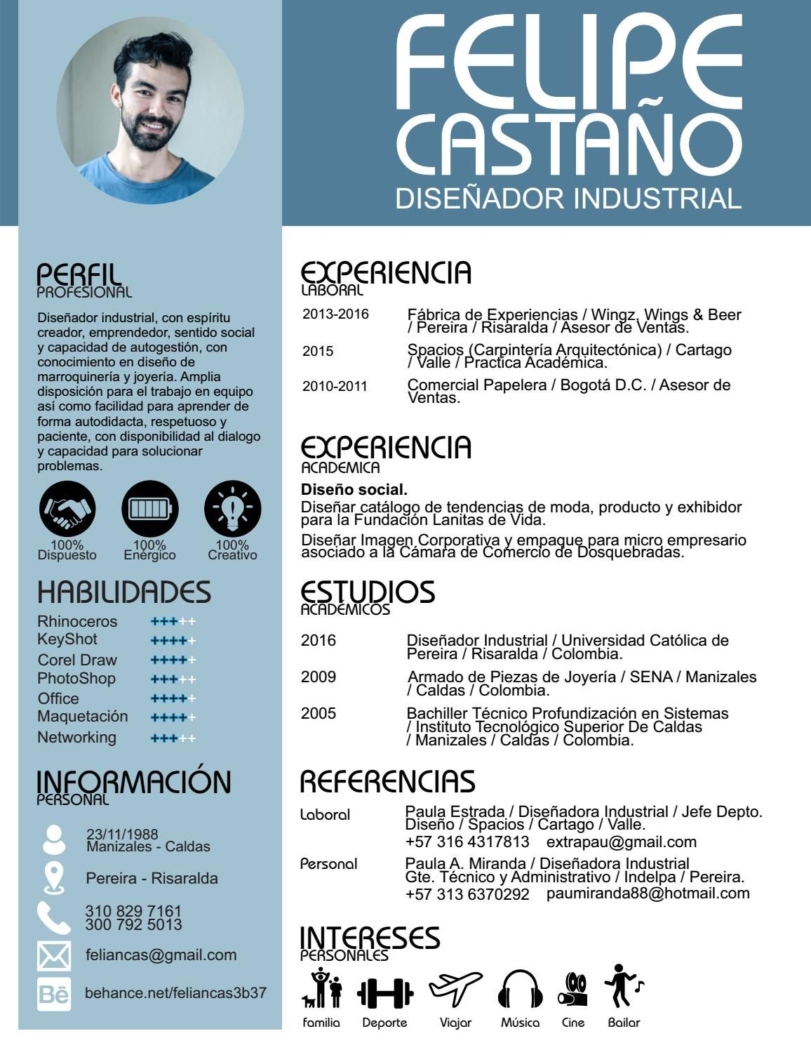 Curriculum Vitae | c CV | Pinterest | Espiritu emprendedor, El ...