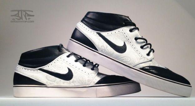 57289248539a Nike SB Zoom Stefan Janoski Mid TUXEDO Custom