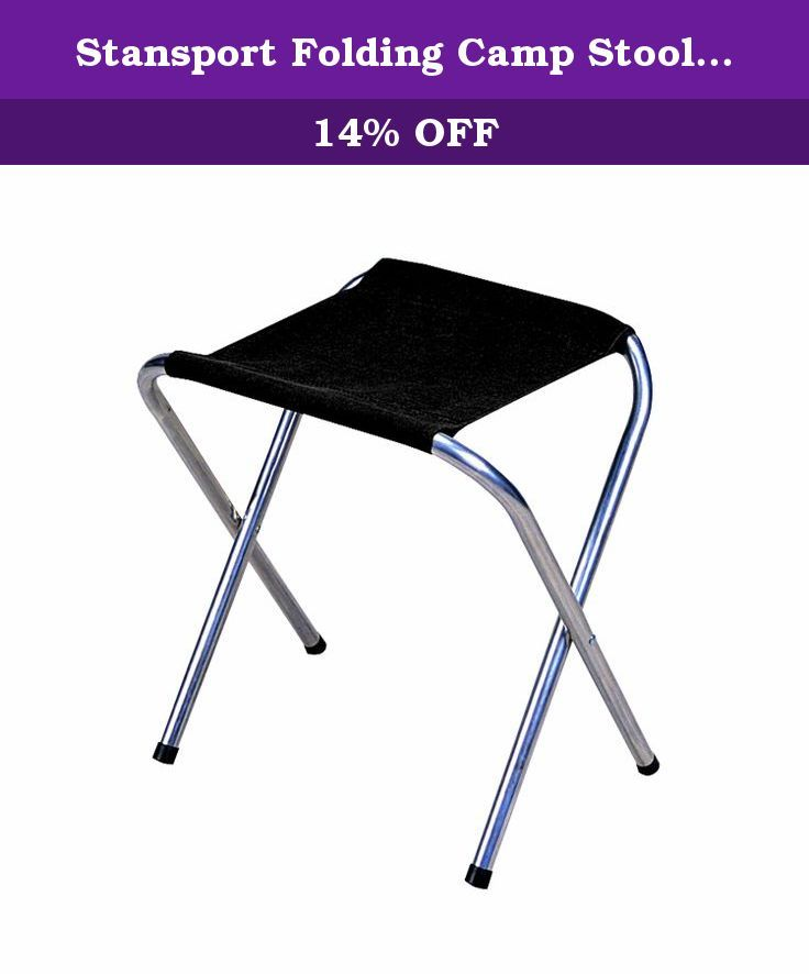 Stansport Folding Camp Stool Black 16 X 14 Inch