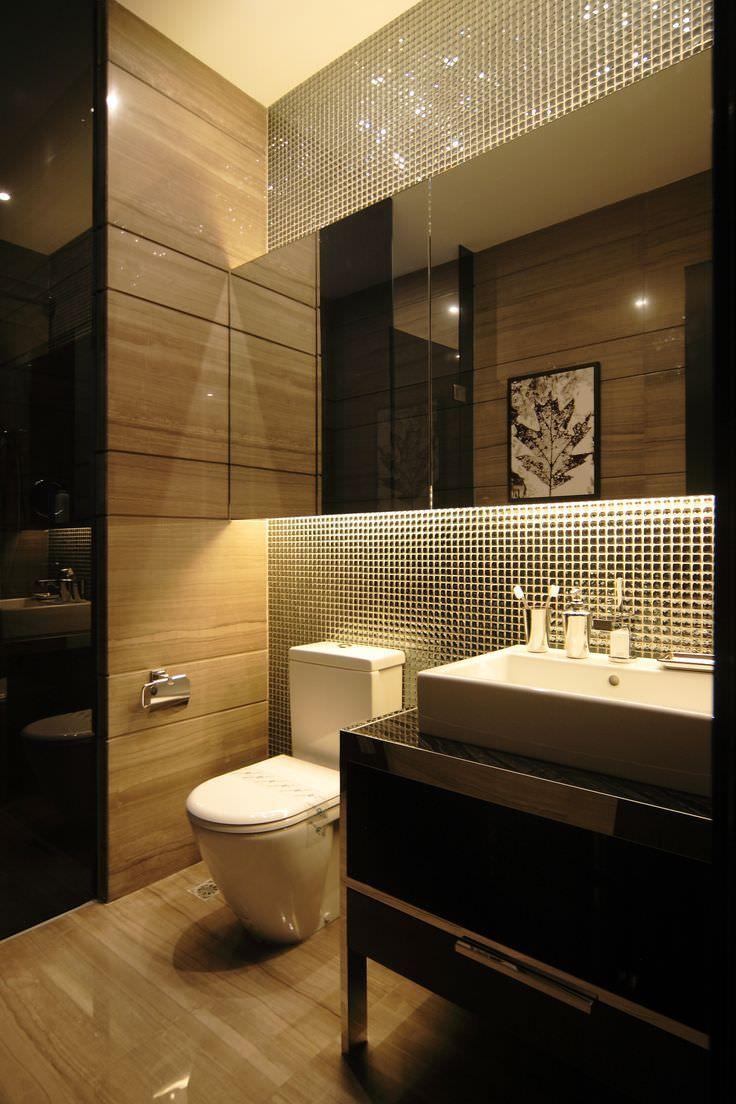 mosaico bagno ? 100 idee per rivestire con stile bagni moderni e ... - Bagni Con Mosaico Moderni