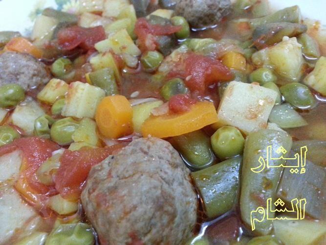 صينية السبع دول بالفرن مع كرات الكفتة شهية و صحية طبق باللحم المفروم لشهر الصوم Food Meat Sausage