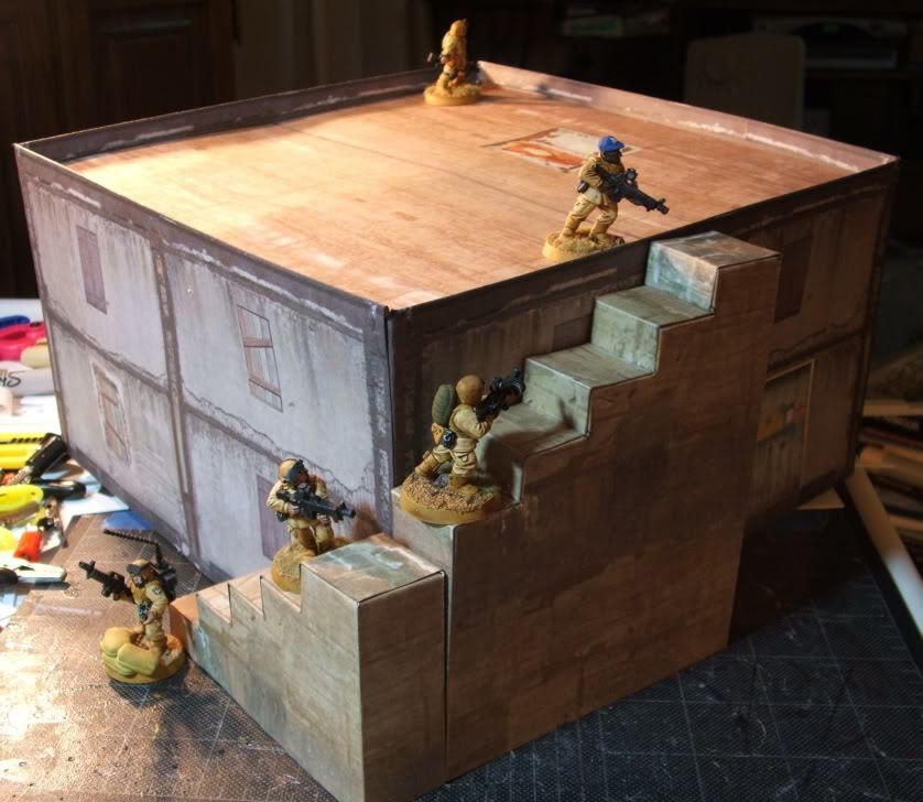 graphic about Printable Terrain called Printable Terrain paper crafts Cardboard box residences