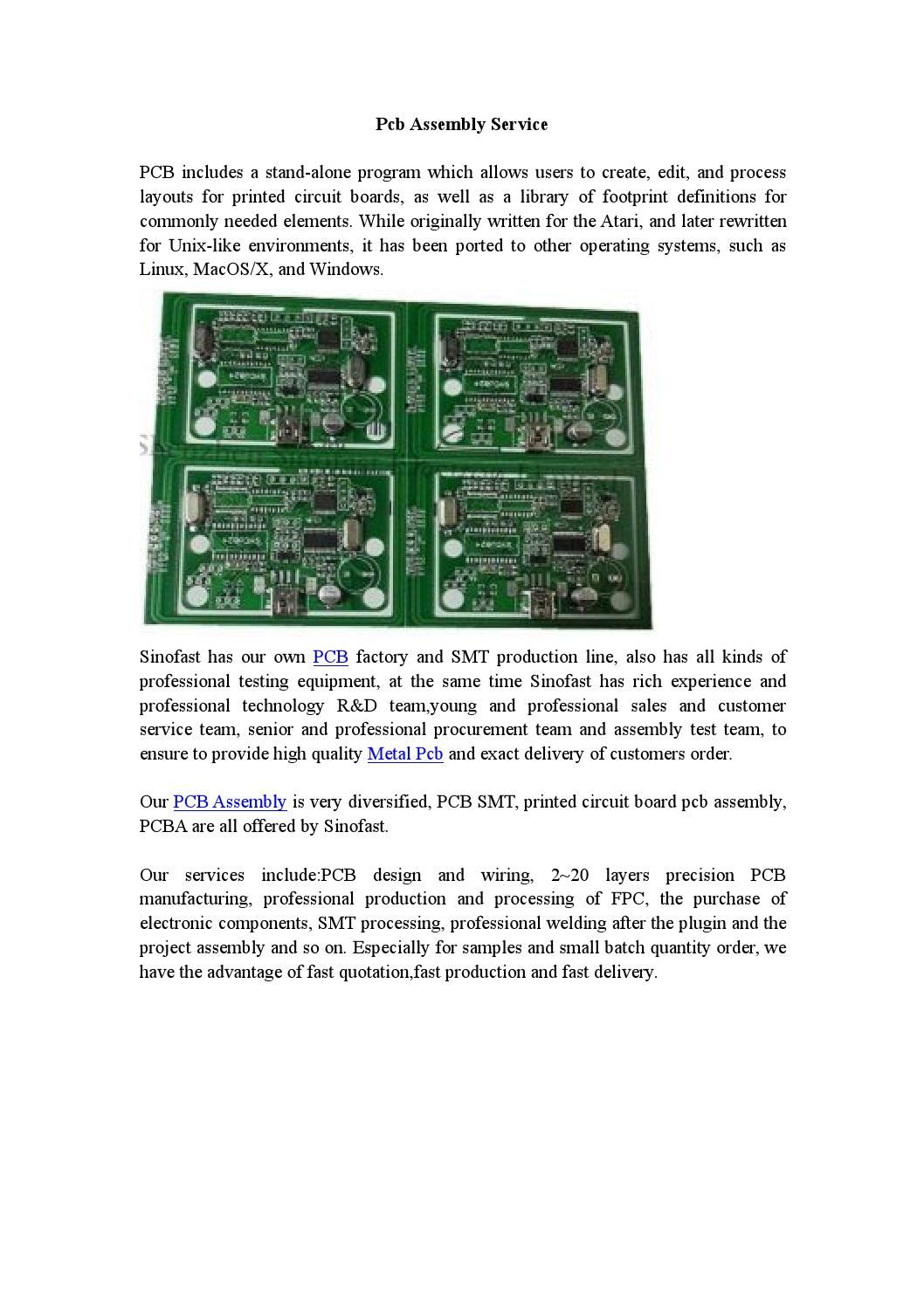 Pcb Assembly Service Printed Circuit Board Engineering And