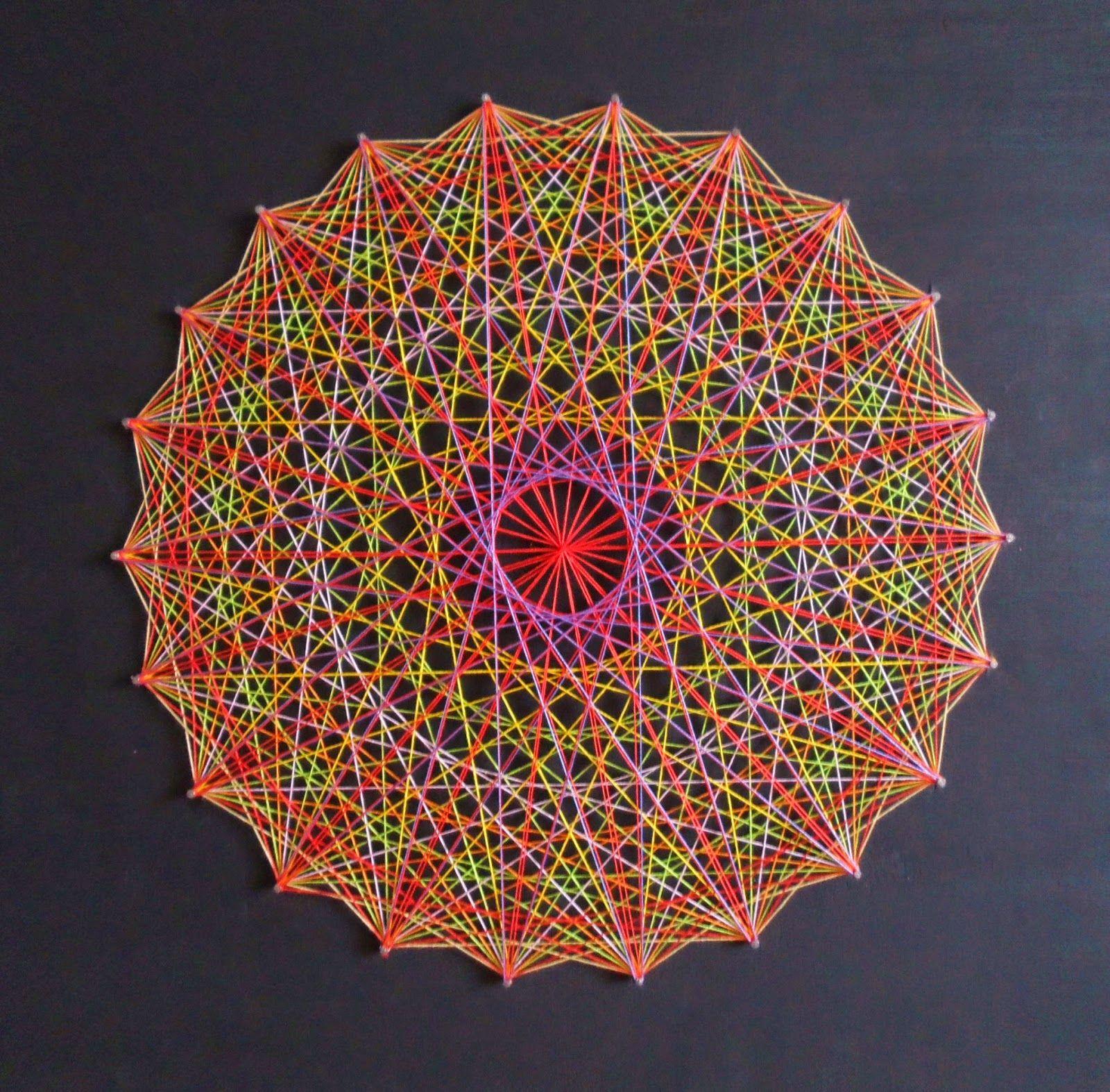 Mandalas Olho De Deus Com Imagens Arte Em Cordas Padroes Em