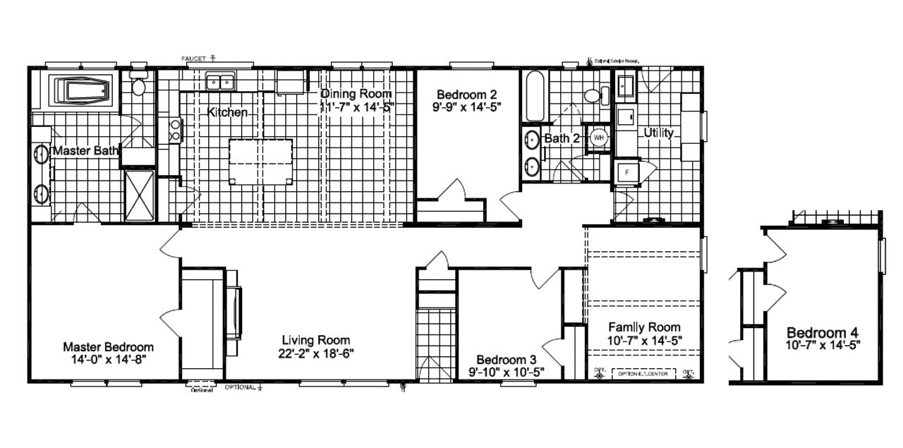 The carrington ml30643c manufactured home plan it has 3 for Carrington plan