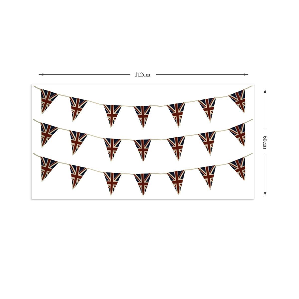 British Union Jack flag bunting wall stickers | Jack flag, Buntings ...