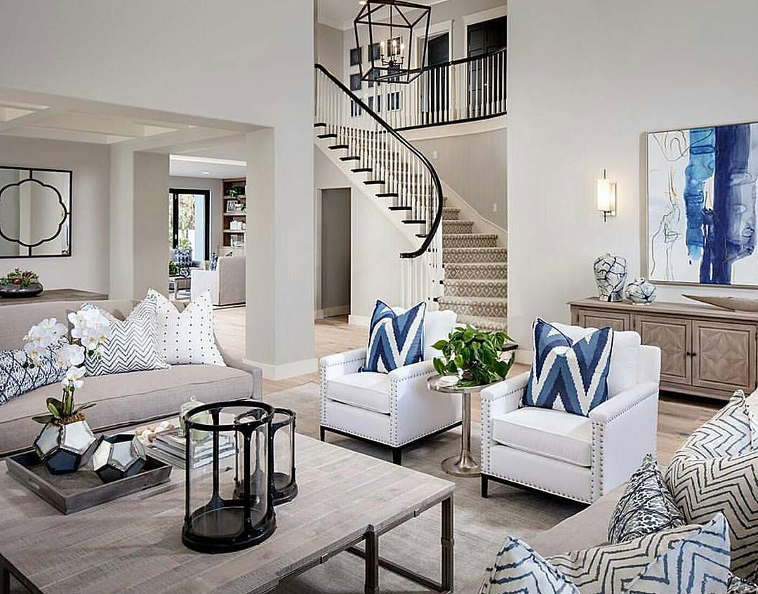 Love This Crisp Clean Living Room With A Good Pop Of Color Alluring Clean Living Room Inspiration