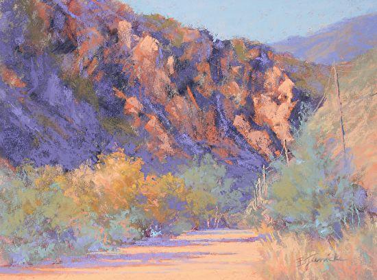 "Waterton Canyon by Barbara Jaenicke Pastel ~ 9"" x 12"""