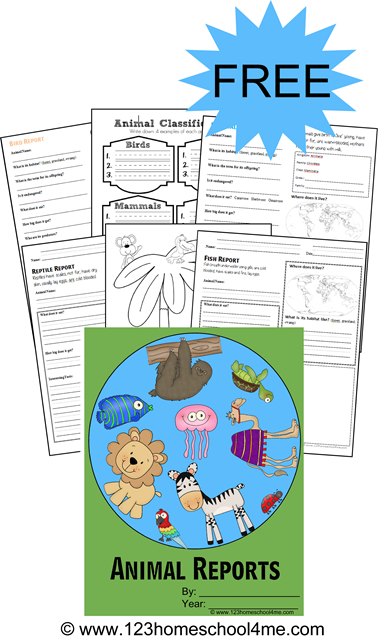 Free Animal Report Form Printables  Homeschool Students And Animal