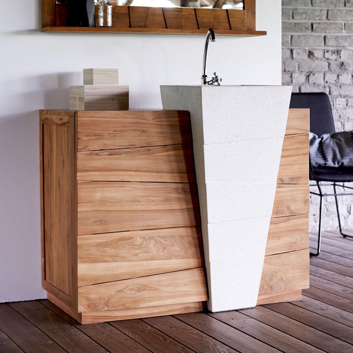 Teak Badmöbel badmöbel aus teak mit waschbecken 100 icone badmoebel waschbecken