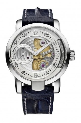 Armin Strom Gravity Water    Strom whips up a storm with this handsome timepiece. Read Angus Davies's watch review of the Armin Strom Gravity Water on ESCAPEMENT, the free to view on-line watch magazine dedicated to haute horology.    http://www.escapement.uk.com/articles/armin-strom-gravity-water.html
