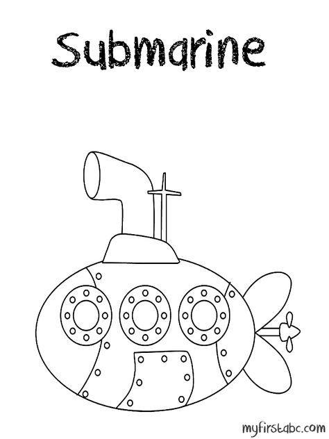 Submarine Submarine Coloring Page Submarine Craft Kids