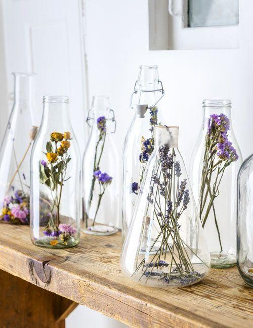 Sind ausgetrocknet! 4 Möglichkeiten, Ihr Haus mit getrockneten Blumen aufzuhellen – Wohnzimme…