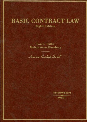 Bestseller Books Online Basic Contract Law American Casebooks Lon - Online contract law