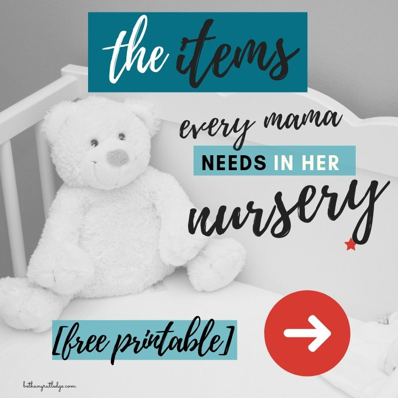 9 must have items for your nursery [baby checklist | Baby ...