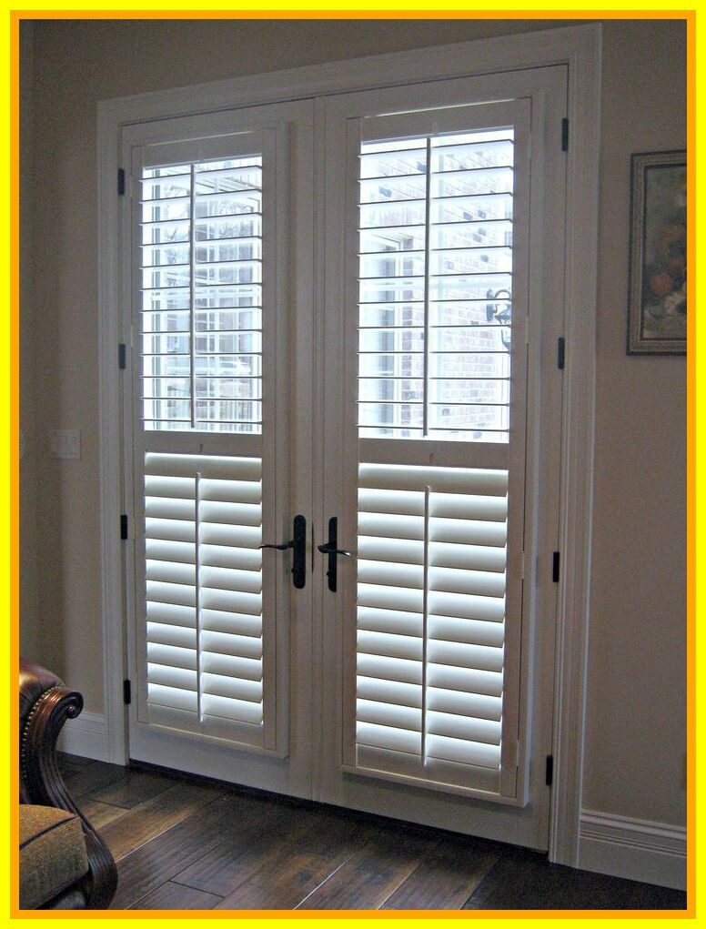 49 Reference Of French Door Wooden Blinds In 2020 Blinds For French Doors Door Blinds French Doors With Sidelights