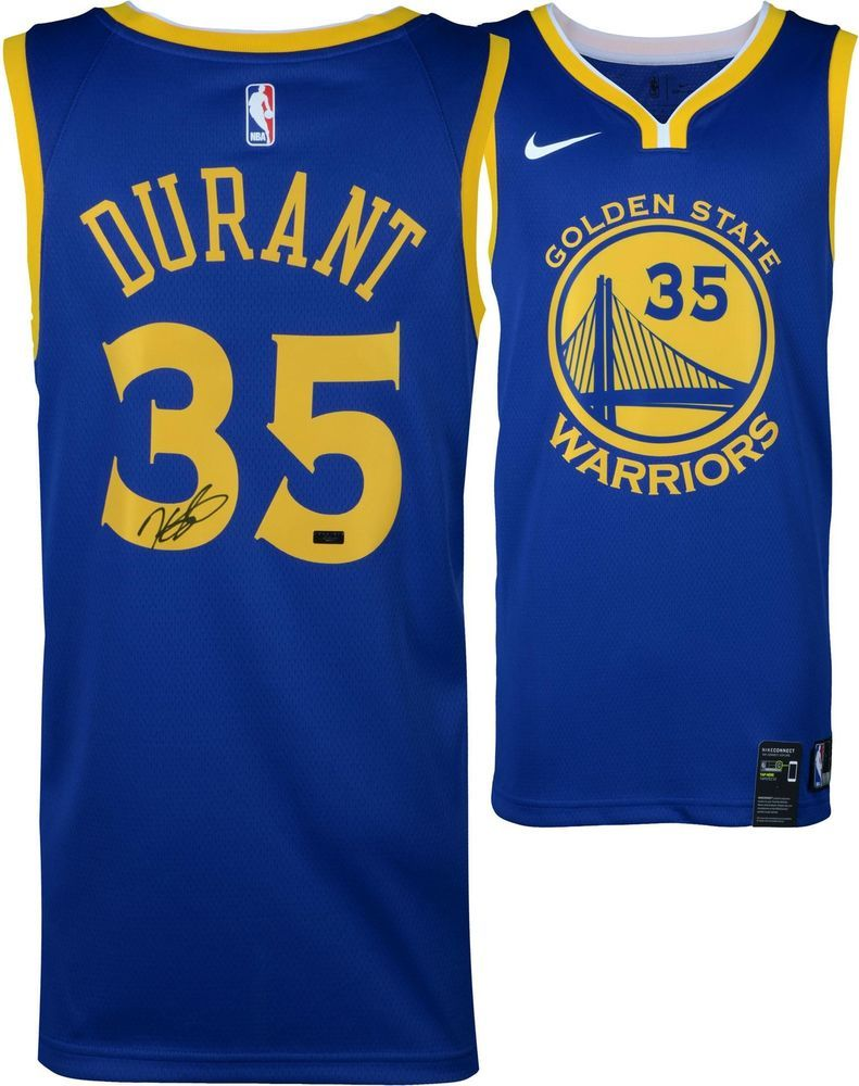 655538c8a Kevin Durant Golden State Warriors Signed Blue Replica Jersey - Panini  Authentic
