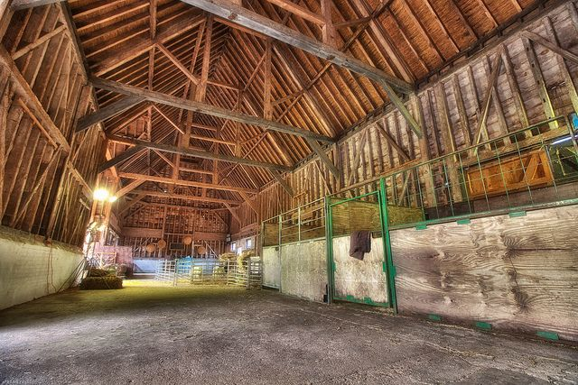 Inside the old barn at Wimpole Hall in Hertfordshire (UK)    More photos on Facebook: www.facebook.com/eFRAME.co.uk     . Cool! You can see some great frames here: