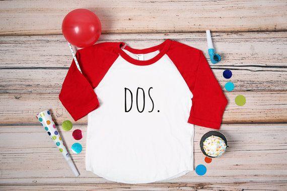 Dos Second Birthday Shirt; 2nd Birthday Shirt; 2nd Birthday Shirt; Dos; Two; 2; Second Birthday; Dos Birthday Shirt; camisa del cumpleanos