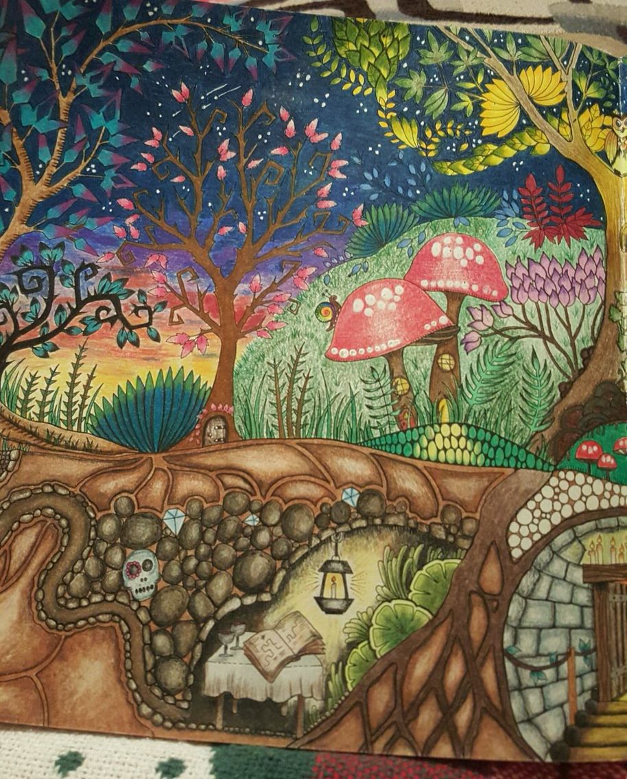 Enchanted forest | Coloring pages | Pinterest | Enchanted, Johanna ...