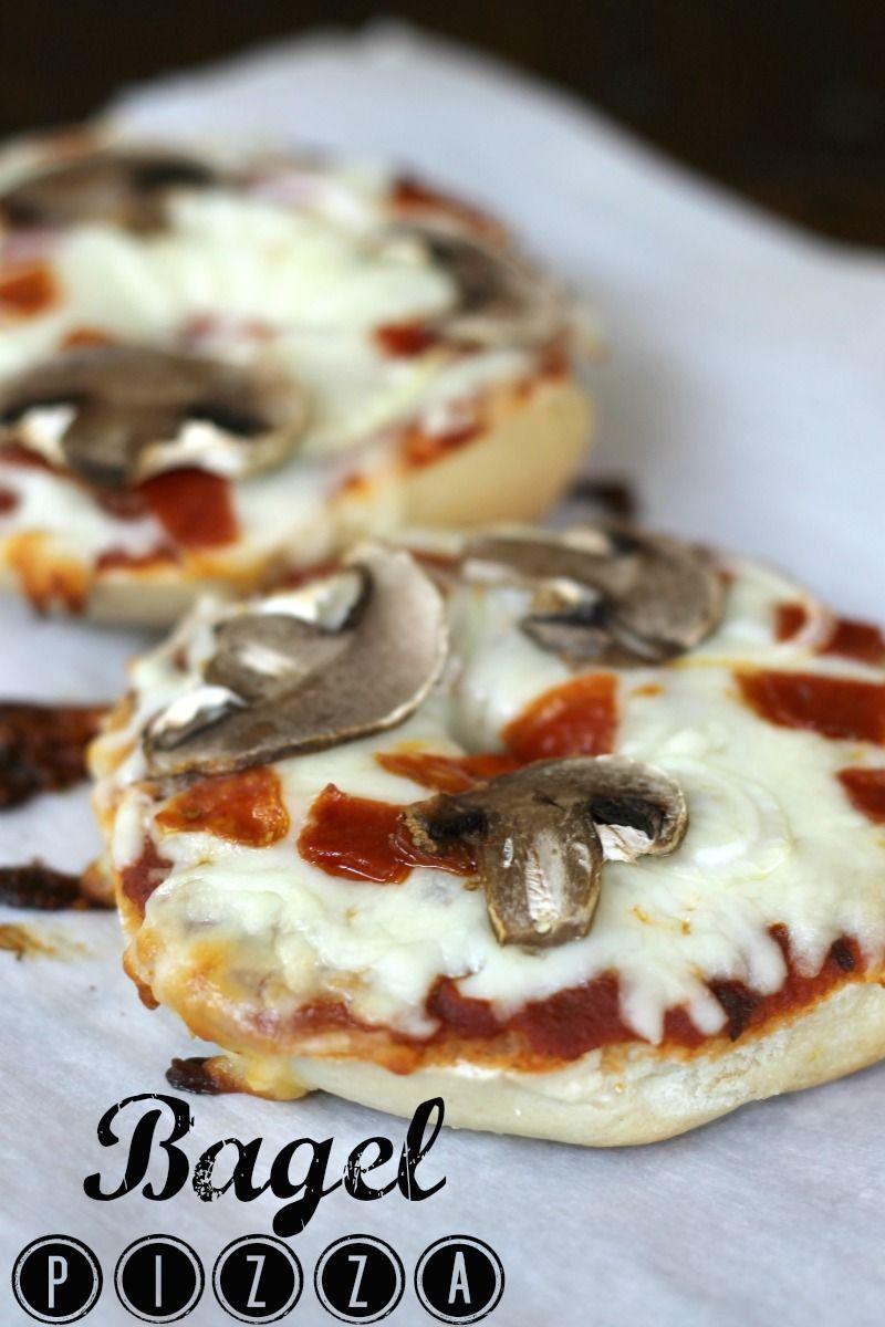 bagel pizza 3 Bagel Pizzas   Easy Publix Menu Option