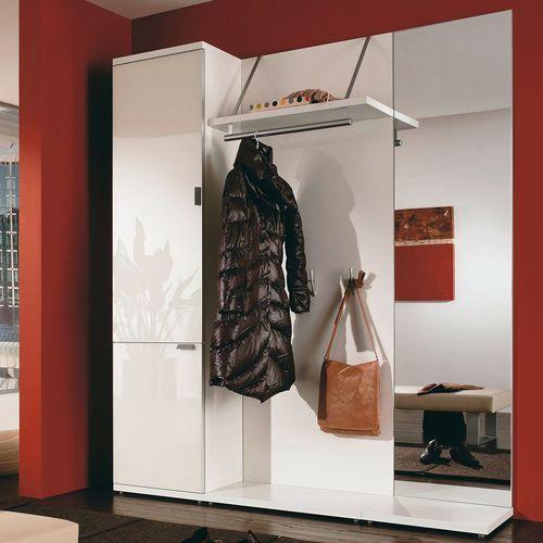 Mobile da ingresso moderno in legno con specchio con for Mobili da ingresso design