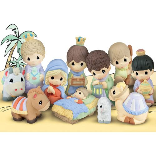 Precious Moments Paintable Nativity Set  Craft Ideas  Pinterest