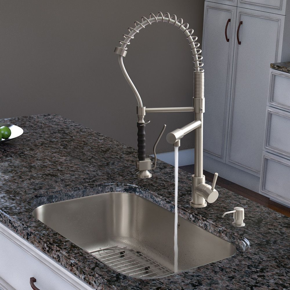 Two Handle Single Hole Pot Filler Kitchen Faucet with Pull-Down ...