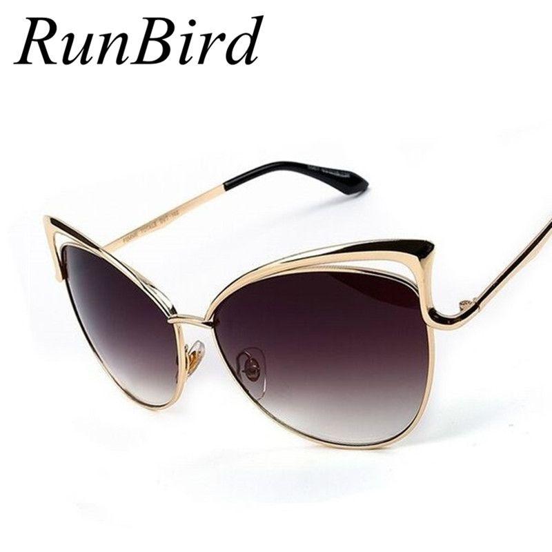2016 NIEUWE Merk Designer Oculos De Sol Feminino Cat Eye zonnebril Vrouwen Vintage Metalen Frame Zonnebril Gafas De Sol R105