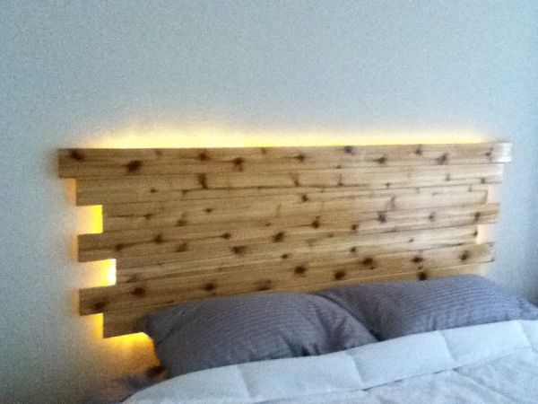 Love The Thought Of Putting Rope Lights Behind The Headboard My Home Design Headboard King Bed Headboard