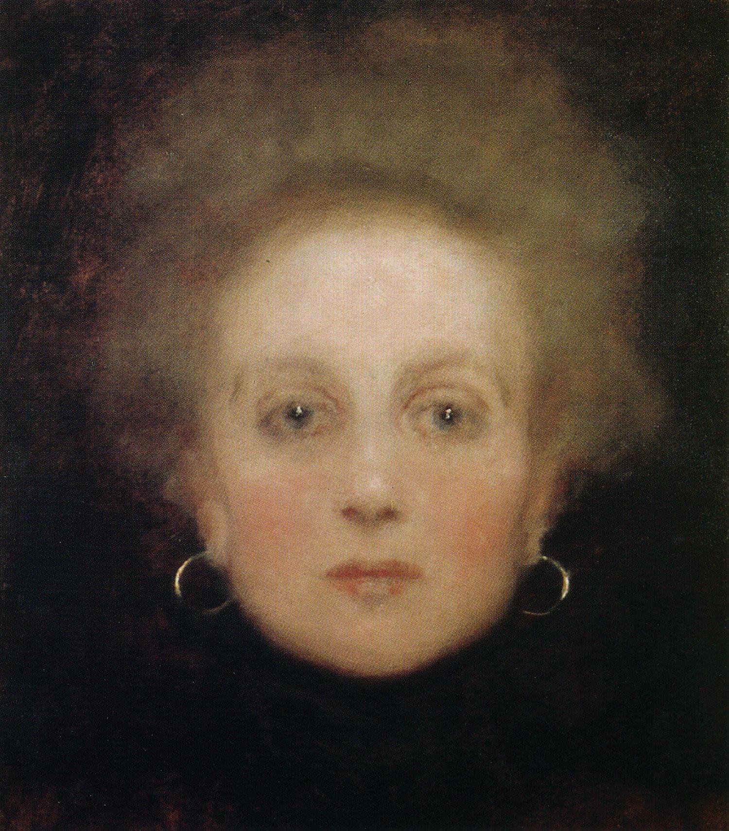 Portrait de jeune fille de face Gustav Klimt   Visual Arts ...