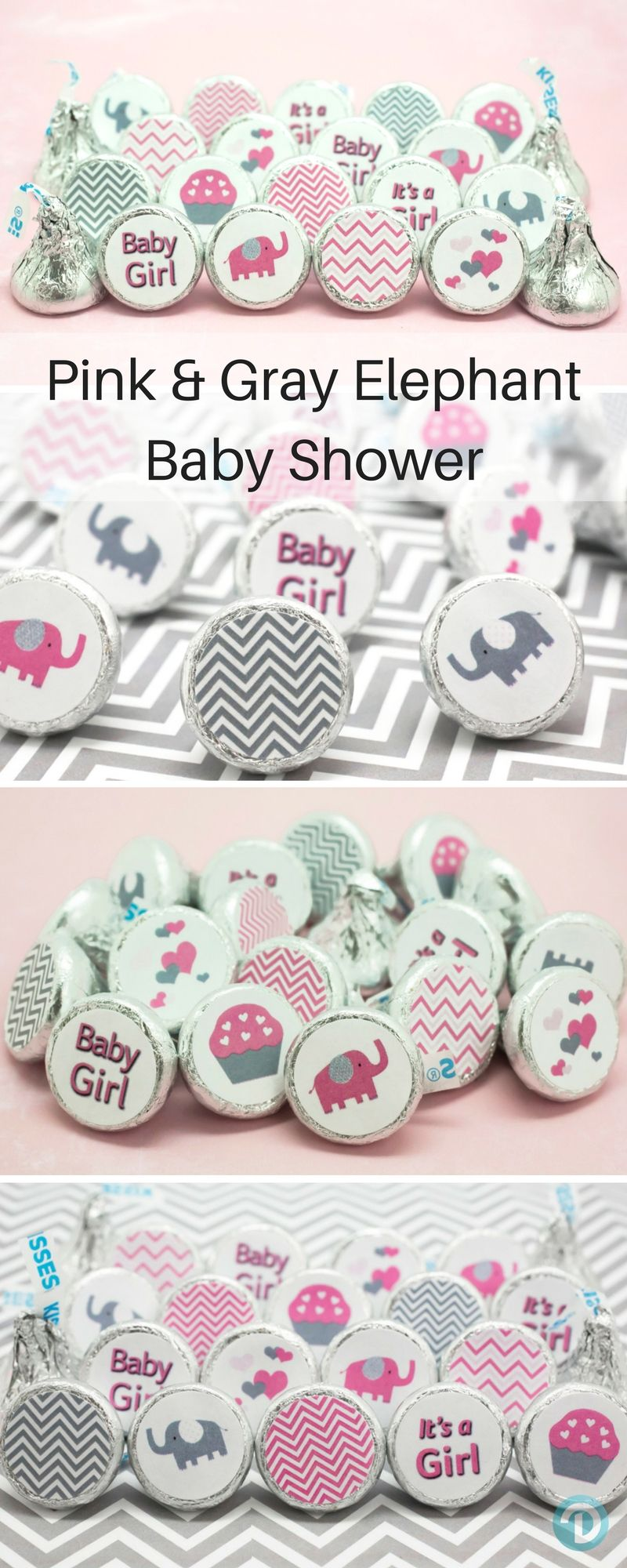 Itu0027s A Girl Elephant Pink And Gray Girl Baby Shower Party Favors Decorations U2026