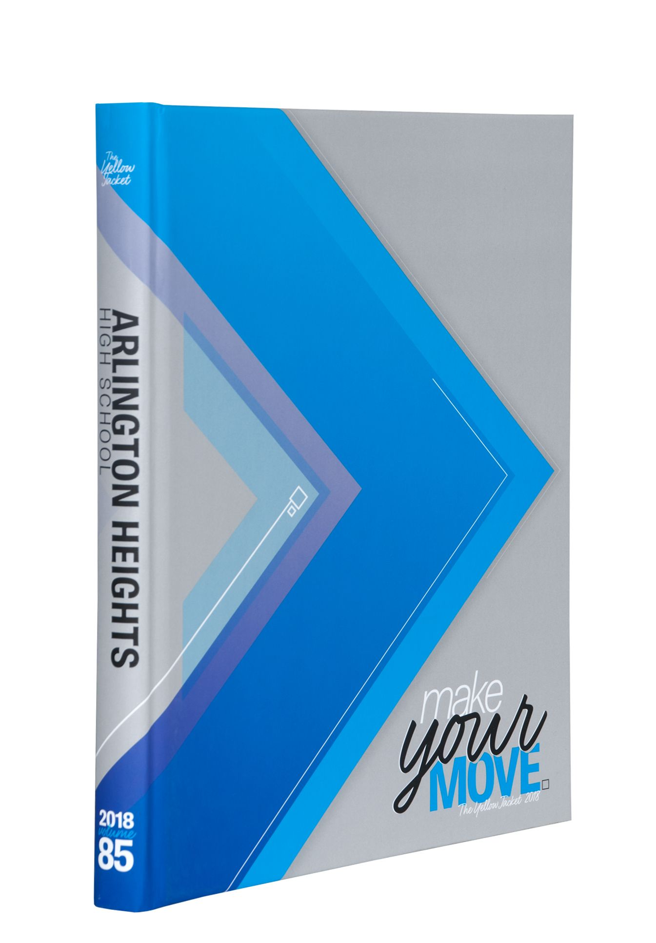Arlington Heights High School Fort Worth Tx Soft Touch Laminate With Air Texture On Gray Background And Debossed Theme Phrase Yearbook Covers Yearbook Cover